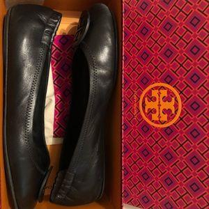 Tory Burch Minnie Travel Ballet leather black